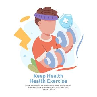 Illustration of exercising to maintain endurance