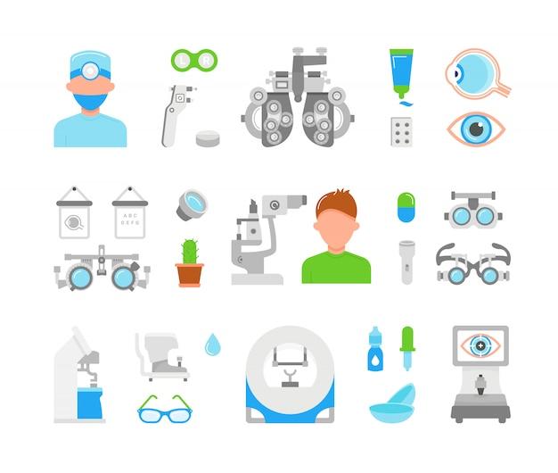 Illustration of eye exam