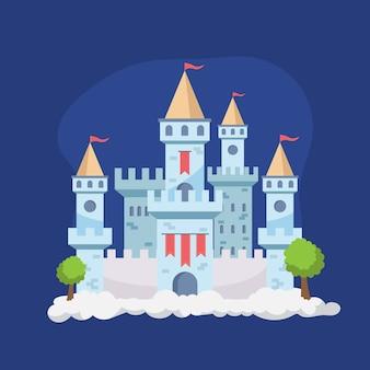 Illustration of fairy tale castle