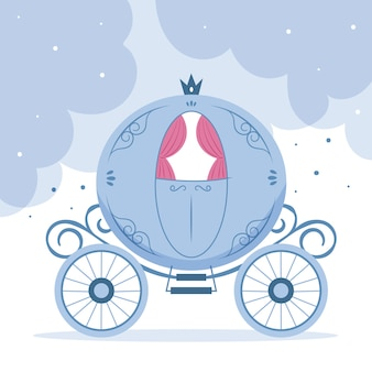 Illustration  of fairytale carriage