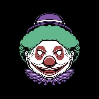 Illustration of a fat clown