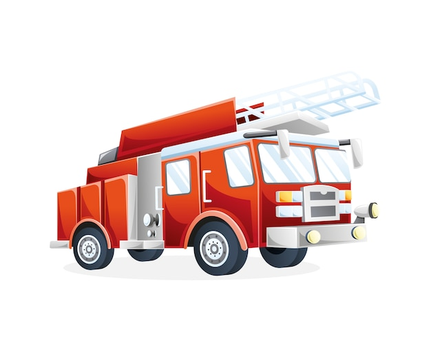 Illustration fire truck