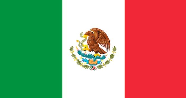 Illustration flag of mexico