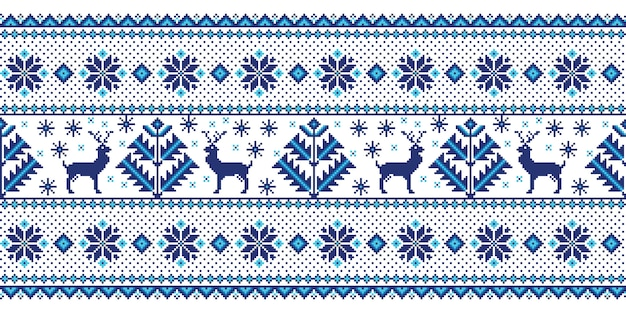 Illustration of folk seamless pattern ornament