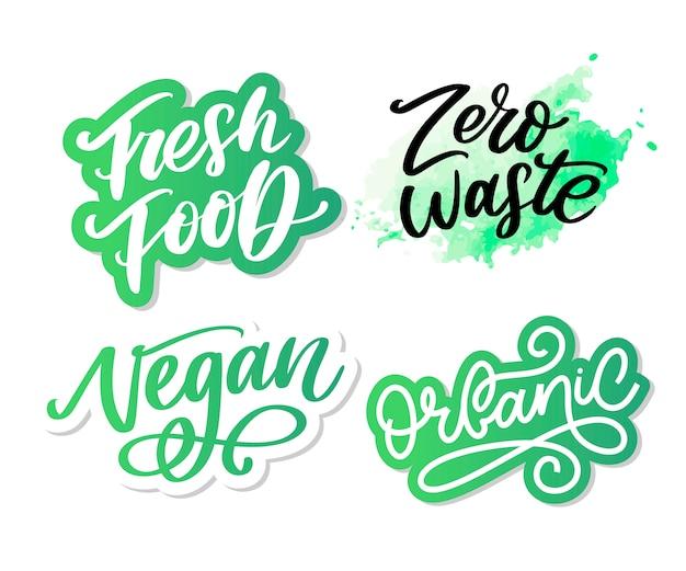 Иллюстрация, еда. ручная надпись для ресторана, меню кафе, фермы и магазина. элементы для этикетки, логотипы, значки, наклейки или значки. каллиграфическая и типографская коллекция. свежая еда