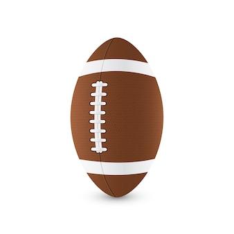 Illustration of football ball on white background