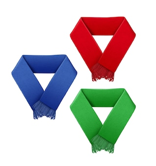 Illustrazione della sciarpa di tifosi di calcio in diversi colori
