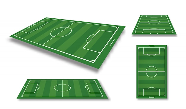 Illustration of football field. soccer