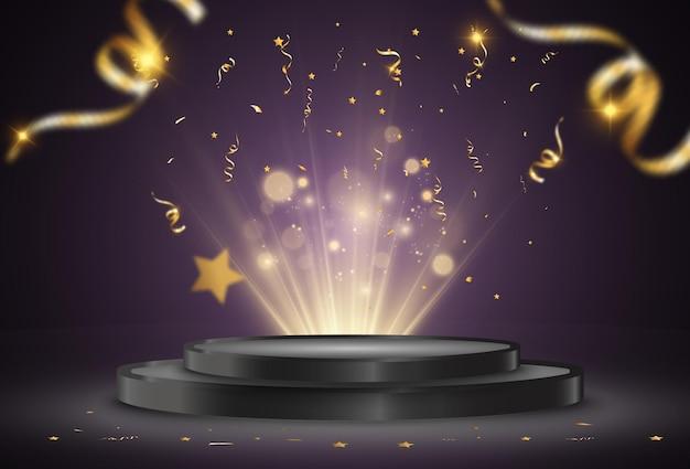 Иллюстрация для победителей пьедестал или помост для чествования победителей