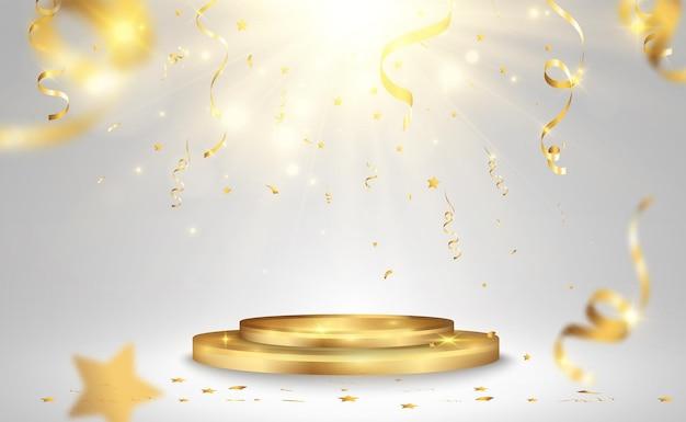 受賞者のためのイラスト受賞者を称えるための台座またはプラットフォーム