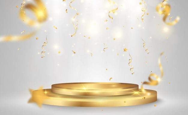 受賞者用のイラスト台座またはプラットフォーム