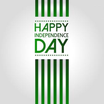 パキスタンの独立記念日のためのイラスト。