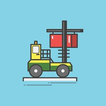 Illustration of a fork lift