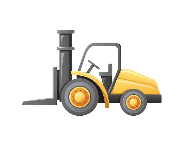Illustration forklift loader warehouse