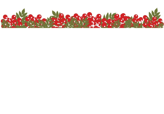 Illustration of a frame made of branches of rowan and leaves