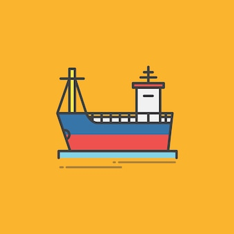 Illustration of a freight ship
