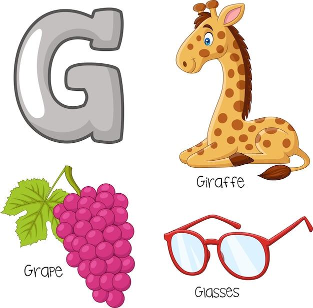 Illustration of g alphabet