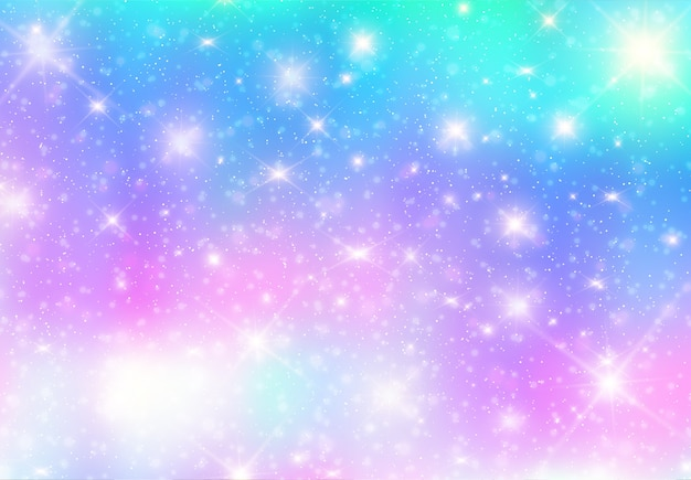 Illustration of galaxy fantasy background and pastel color