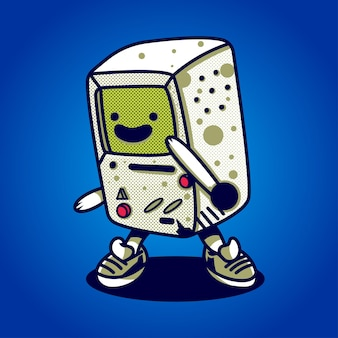 Illustration of game console suitable for t-shirt, sticker, and related business