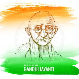 Illustration for gandhi jayanti or2nd october national holiday