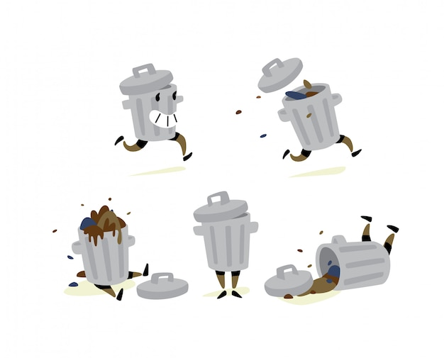 Illustration of a garbage can.