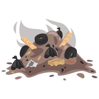 Illustration of garbage