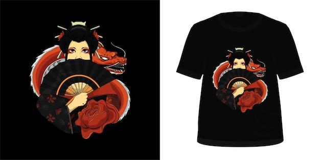 Tシャツデザインのイラスト芸者