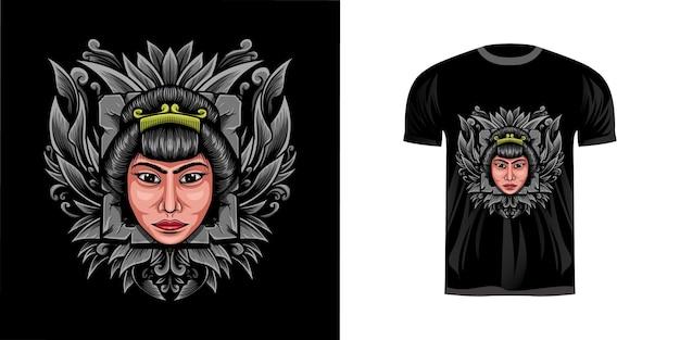Tshirt 디자인을위한 그림 소녀