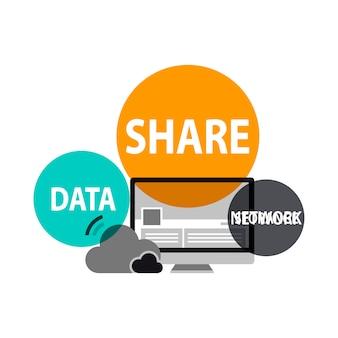 Illustration of global network concept