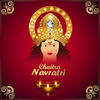 Illustration of goddess durga for happy navratri
