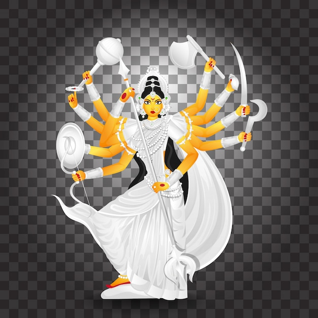Illustration of goddess durga maa