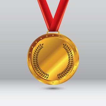イラスト:金メダル