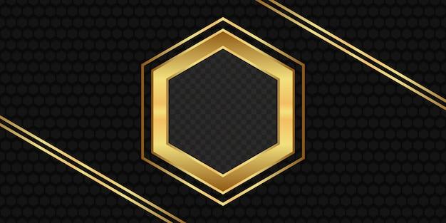 Illustration of golden hexagon background