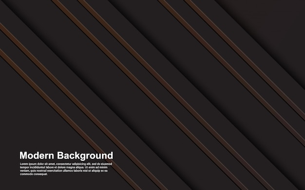 Illustration  graphic of abstract background black and brown color modern