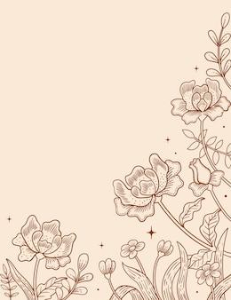 Illustration graphic of batik flower background