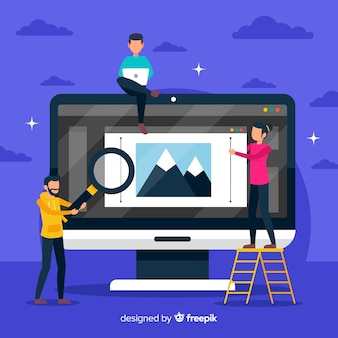 Illustration graphic design teamwork concept