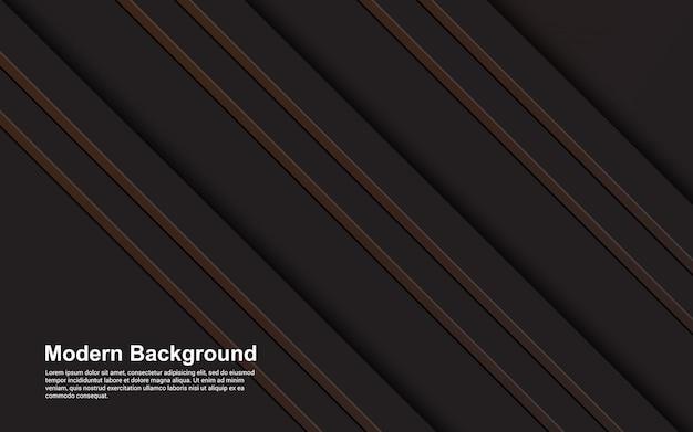 Иллюстрация графика абстрактного фона черного и коричневого цвета современного