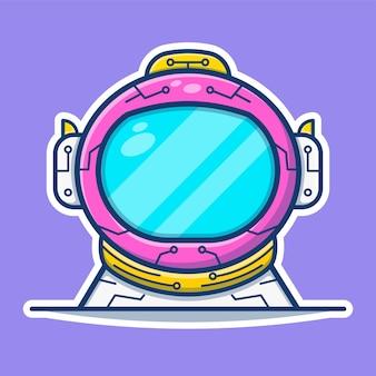 Графическая иллюстрация шлема космонавта