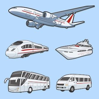 Illustration  graphic of public transportation Premium Vector
