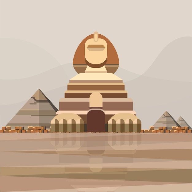 Illustration of great sphinx of giza