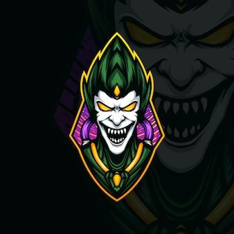 Illustration of green goblin head mascot logo