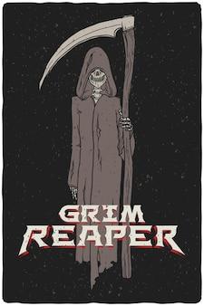Illustration of a grim reaper