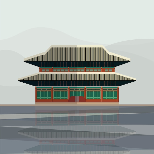 Illustration of gyeongbokgung palace
