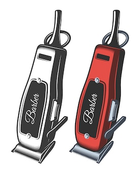 Illustration of hair clipper