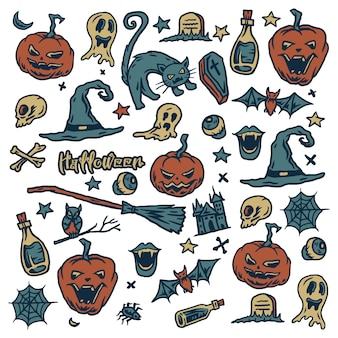 Illustration of halloween pattern