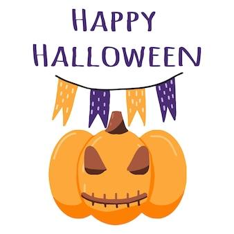Illustration of halloween pumpkin halloween poster