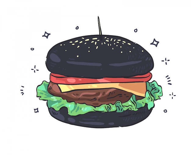 Illustration of hamburger . hamburger
