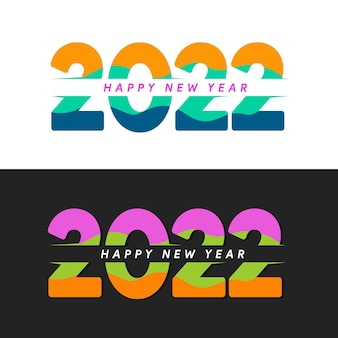 Illustration happy new year 2022 minimalist trendy for branding cover card banner