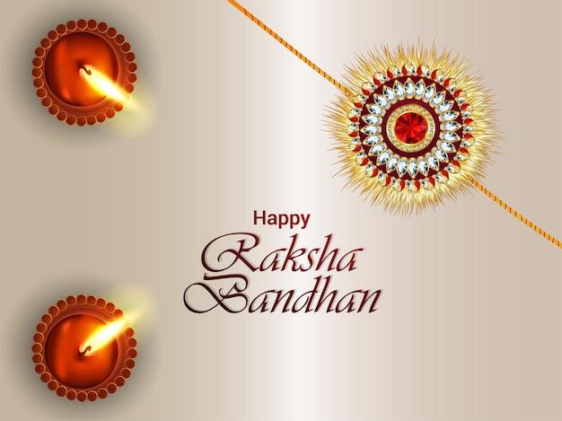 Illustration of happy raksha bandhan celebration background