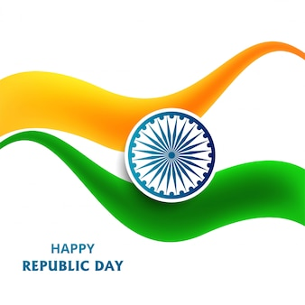Illustration of happy republic day of india